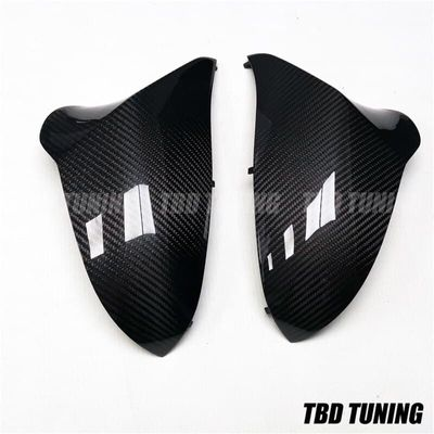 Real Dry Carbon Fiber Mirror Cover For BMW M3 M4 F80 F82 F83 2014 2015 2016+ Rear View Mirror Cover Replacement & Add On Style