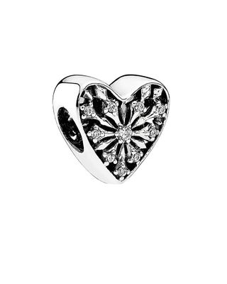 PANDORA Silver Heart of Winter Charm