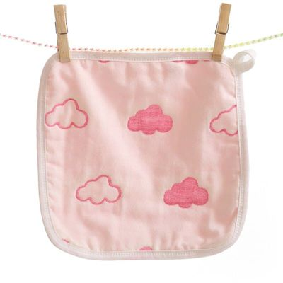 Fashion Stars Fruits Clouds Crown Pattern Printing Cotton Gauze Towel Small Square Handkerchief For Baby Newborn Kids FS0402