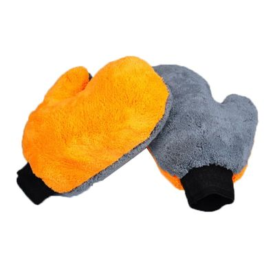 high quality Car Wash Glove double face coral fleece/coral velvet thicken Cleaning Cloth Water Absorption Detailing Dust cleaner