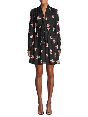 Kate Spade New York Glitzy Ritzy Dusk Buds Print Mini Dress