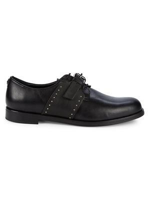 cavalli CLASS Studded Leather Buckle Derby Shoes