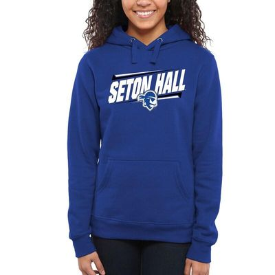 Seton Hall Pirates Women's Double Bar Pullover Hoodie - Royal