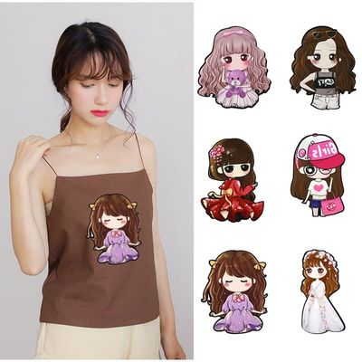 5 Pcs Girl Lol Clothes Patch Cute DIY Stickers T-shirt Patches for Clothing Sequin Embroidery Cloth Garment Accessories