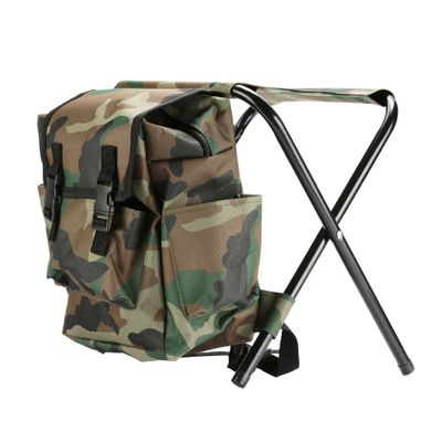 Portable Fishing Chairs Outdoor Travel Folding Backpack Chair Hiking Beach Backpacks Camping Stool Picnic Bag Hunting Climbing