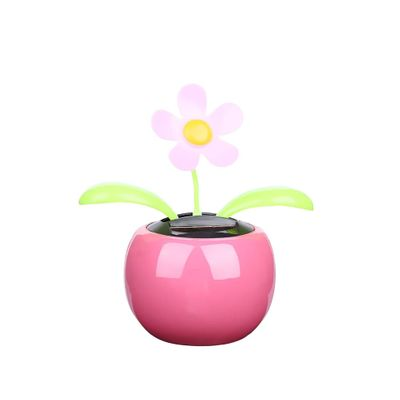 1PC New Moving Dancing Swing Flip flap Solar Toy Power Sunflower Apple Car gadgets Gift Home Toys Decorating Plants