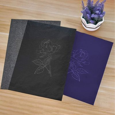 100 Sheet A4 Size Reusable Carbon Tracing Transfer Paper for Office School Home Canvas Wood Glass Metal Ceramic Supplies