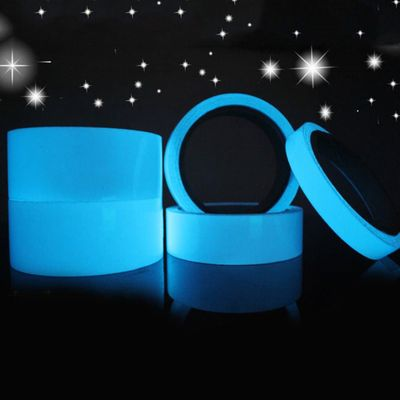 Blue Luminous Tape Fluorescent Self-adhesive Sticker Party Stage Decoration Noctilucent Glowing Warning Safety Tape