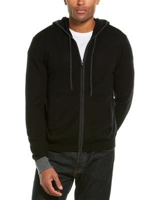 Amicale Cashmere Zipped Cashmere Hoodie