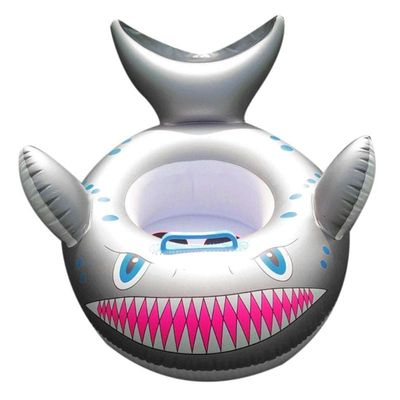 Cartoon Shark Inflatable Baby Swimming Ring Toddler Neck Float Circle Seat Swimming Baby Accessories Neck Ring Tube Safety