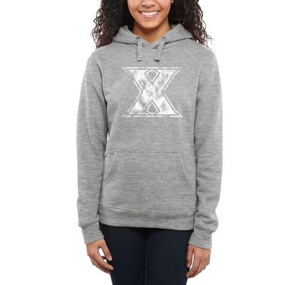 Xavier Musketeers Women's Classic Primary Pullover Hoodie - Ash