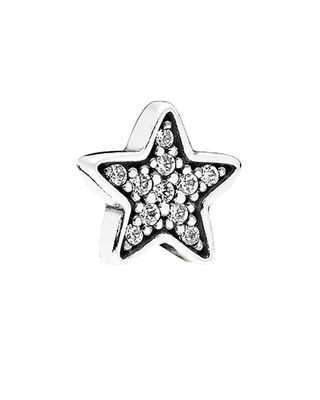 PANDORA Petite Locket Collection Silver CZ Pave Star Element