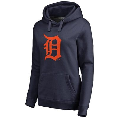 Detroit Tigers Women's Team Color Primary Logo Pullover Hoodie - Navy