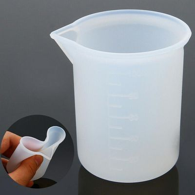Disposable Silicone Measuring Cup Diy Handmade Making Tool With Scale 100ml Ml Plastic Cup