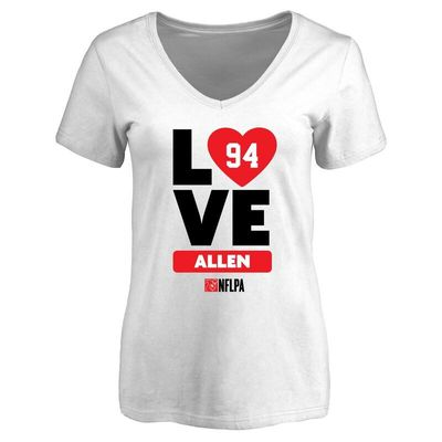 Beau Allen Fanatics Branded Women's I Heart V-Neck T-Shirt - White
