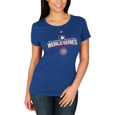 Chicago Cubs Majestic Women's 2016 World Series Bound Participant T-Shirt - Royal