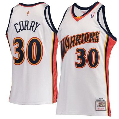 Stephen Curry Golden State Warriors Mitchell & Ness Hardwood Classics 2009-10 Home Authentic Jersey - White