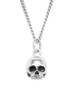 King Baby Studio Sterling Silver Hamlet Skull Pendant Necklace