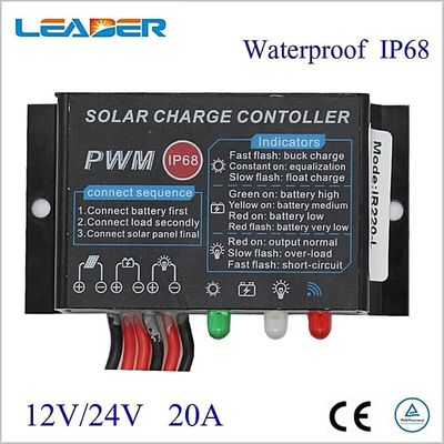 1pcs Waterproof PWM Solar Charge Controller 10A/20A Regulator 12V/24V Auto LED Display Solar Panel Controller For LED Light