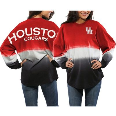 Houston Cougars Women's Ombre Spirit Jersey Long Sleeve T-Shirt - Red/White