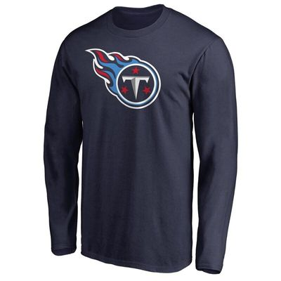 Tennessee Titans NFL Pro Line Primary Logo Long Sleeve T-Shirt - Navy