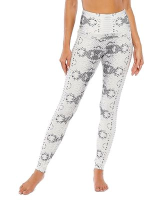 ELECTRIC YOGA Cobra-Print High-Waisted Leggings
