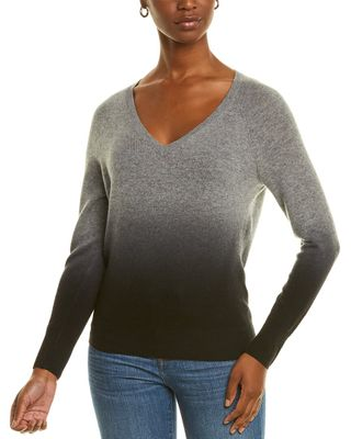 Amicale Cashmere Dip Dye Cashmere Sweater