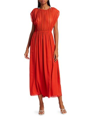 Saloni Snead A-Line Maxi Silk Georgette Dress