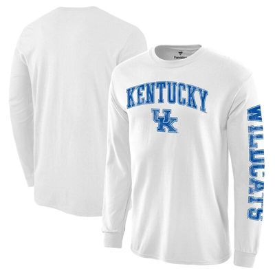 Kentucky Wildcats Fanatics Branded Distressed Arch Over Logo Long Sleeve Hit T-Shirt - White