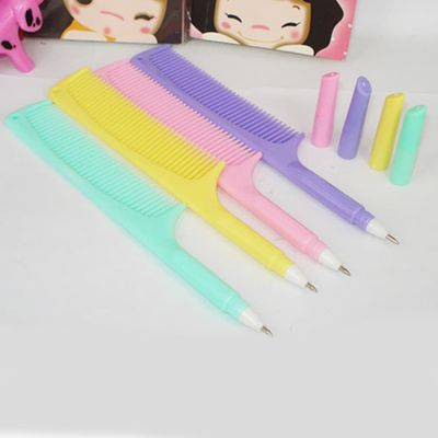 1Pcs Promotion Newest Korean Creative Comb Pen Ballpoint Pens Stationery Plastic Office School Supplies Caneta