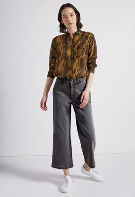 Current Elliott The Cropped Camp Straight Jean