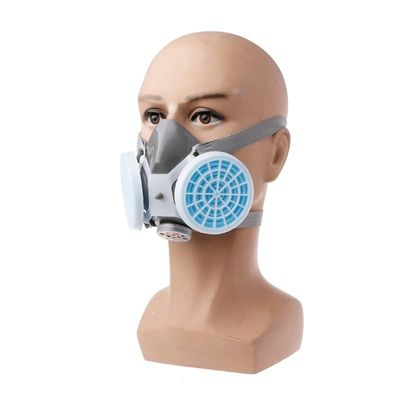 New Dual Anti-Dust Gas Respirator Mask Filter Industrial Paint Spraying Protective Facepiece Twin Chemical Spray Paint Safety He