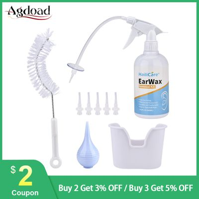AGDOAD Ear Care Ear Wax Irrigation Ear Cleaning Tool Washing Kit Earwax Removal Cleaner Ear Washing Syringe Squeeze Bulb