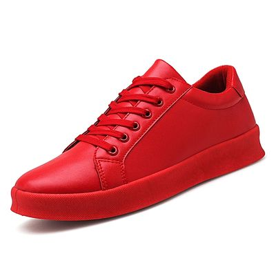 Men's Eespadrilles Leather Canvas Shoes For Men-Red