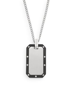 Saks Fifth Avenue Titanium & Stainless Steel Pendant Necklace
