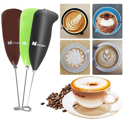 Powerful Electric Milk Frother Automatic Handheld Foam Maker for Egg Latte Cappuccino Hot Chocolate Matcha Kitchen Coffee Tool