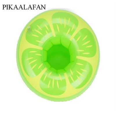 PIKAALAFAN PVC Inflatable Fruit Water Cup Holder Inflatable Water Floating Drink Cup Pineapple Lemon Cup Holder Pool Toys