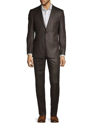 Versace Collection Pinstripe Wool Blend Suit