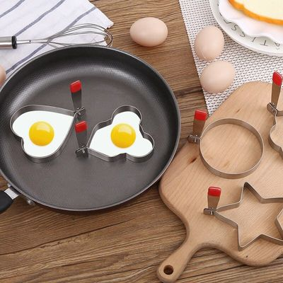 5pcs/lot stainless steel eggs mold set omelette mould device love surprise ring heart shape egg mold styling tools ferramentas