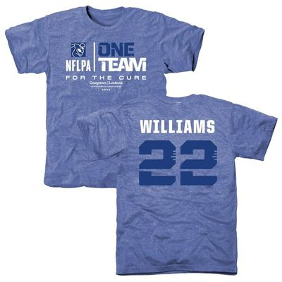 Men's NFLPA Tramon Williams Blue One Team For The Cure T-Shirt