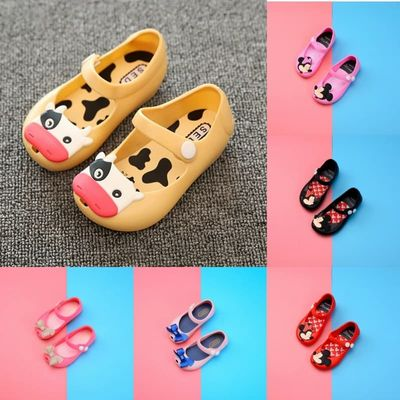 Baby girl shoes summer children's garden shoes PVC jelly beach shoes cartoon Minnie girls princess shoes
