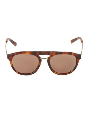 Sean John 55MM Faux Tortoiseshell Round Sunglasses