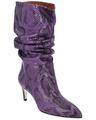 Paris Texas Stivale Slouchy Stampa Leather Bootie