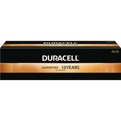 Duracell Coppertop Alkaline AA Battery - MN1500, 36 / Pack (Quantity)