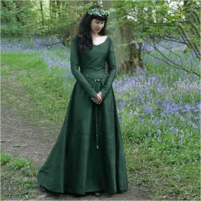 Women Witch Dress Halloween Cosplay Costumes Scary Vampire Witch Dress for Women Medieval Maxi Dress Plus Size