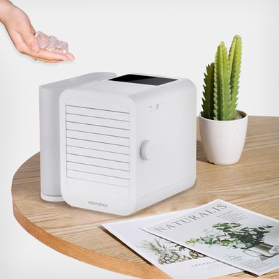 New 6W 1000ml Water Capacity Mini Air Conditioner Touch-Screen 99-speed Adjustment Energy Saving Timing Cooling Fan