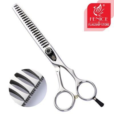 Fenice 7.0/7.5 inch Professional Grooming Scissors Thinning Shear with Small Teeth Japan 440C Thinning Rate 75%