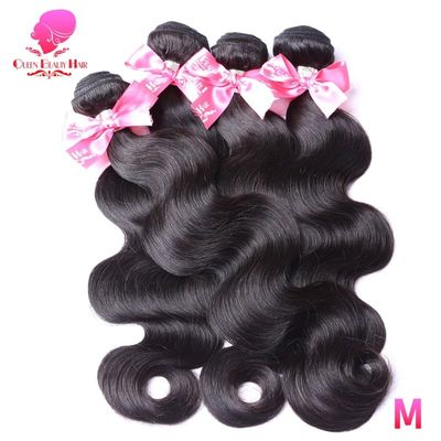 QUEEN BEAUTY 1 3 4 Bundle Deals Brazilian Body Wave Bundle Remy Human Hair Weave Weft 26 28 30 32 34 36 38 40 inch Free Shipping