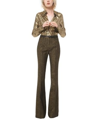 Michael Kors Collection Wool-Blend Flare Pant