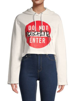 Moschino Couture! Cropped Hoodie